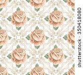 seamless pattern with hand... | Shutterstock .eps vector #350418080