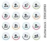 users icons with color stickers. | Shutterstock .eps vector #350418983