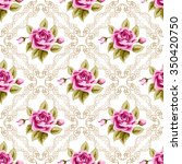 seamless pattern with hand... | Shutterstock .eps vector #350420750