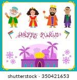 purim characters   cute purim... | Shutterstock .eps vector #350421653