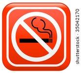 "vector sign ""no smoking"" | Shutterstock .eps vector #35042170"