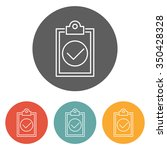 clipboard icon | Shutterstock .eps vector #350428328