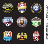 set of football  soccer  crests ... | Shutterstock .eps vector #350428664
