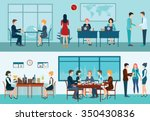 business meeting  office ... | Shutterstock .eps vector #350430836