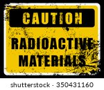 radioactive materials caution... | Shutterstock .eps vector #350431160
