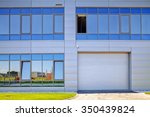 details of gray facade made of... | Shutterstock . vector #350439824