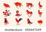Chinese Zodiac Flat Design...