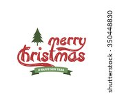 merry christmas label  ... | Shutterstock .eps vector #350448830