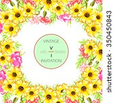 abstract flower background with ... | Shutterstock . vector #350450843