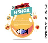 fish oil. cod liver oil with...   Shutterstock .eps vector #350452760