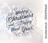 vintage christmas greeting card ... | Shutterstock .eps vector #350459660