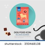 Vector Icon Of Dog Dry Food....