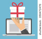 receiving or ordering gift... | Shutterstock .eps vector #350472470