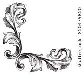 vintage baroque frame scroll... | Shutterstock .eps vector #350479850