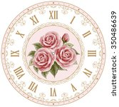 vintage clock face with hand... | Shutterstock .eps vector #350486639
