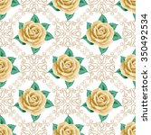seamless pattern with hand...   Shutterstock .eps vector #350492534