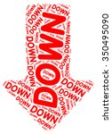 down text collage composed in... | Shutterstock . vector #350495090