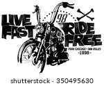 motorcycles and typography.... | Shutterstock .eps vector #350495630