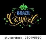 brazil carnival glittering... | Shutterstock .eps vector #350495990