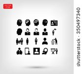 business man icons | Shutterstock .eps vector #350497340