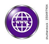 internet   vector icon  violet... | Shutterstock .eps vector #350497904