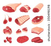 Постер, плакат: meat cuts assortment