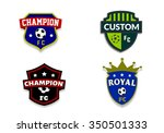 soccer club badges set | Shutterstock . vector #350501333