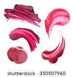 lipstick smears  isolated on...   Shutterstock . vector #350507960