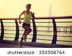 young fitness woman runner... | Shutterstock . vector #350508764