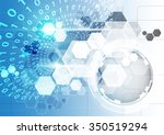 abstract vector technology... | Shutterstock .eps vector #350519294
