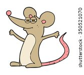 freehand drawn cartoon mouse | Shutterstock .eps vector #350521070