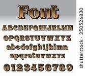 alphabet and number vector...   Shutterstock .eps vector #350526830