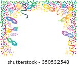 carnival colorful frame with... | Shutterstock .eps vector #350532548