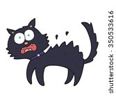 freehand drawn cartoon scared... | Shutterstock .eps vector #350533616
