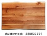 Wooden Board Isolated On White...