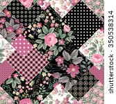 Seamless Floral Patchwork...