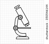 microscope icon | Shutterstock .eps vector #350546144