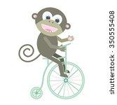 illustration of monkey on... | Shutterstock .eps vector #350555408