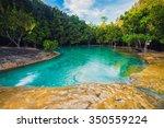 emerald pool in krabi thailand... | Shutterstock . vector #350559224