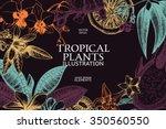 vector design with ink hand... | Shutterstock .eps vector #350560550