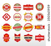 label christmas collection. | Shutterstock .eps vector #350565959