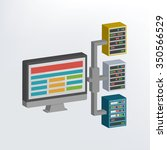 network design three dimension... | Shutterstock .eps vector #350566529