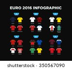 euro 2016 tournament draw... | Shutterstock .eps vector #350567090