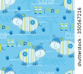 seamless pattern with cute... | Shutterstock .eps vector #350567216