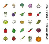 vegetables filled outline... | Shutterstock .eps vector #350567750
