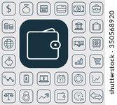 finance outline  thin  flat ... | Shutterstock .eps vector #350568920