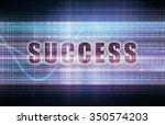 success on a tech business... | Shutterstock . vector #350574203