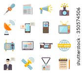 mass media icons set with... | Shutterstock .eps vector #350574506