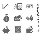 finance icons set   Shutterstock . vector #350576810