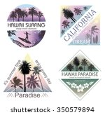 set of exotic nature landscapes ...